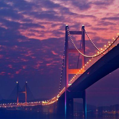 Cahaya Jembatan Malam Hari