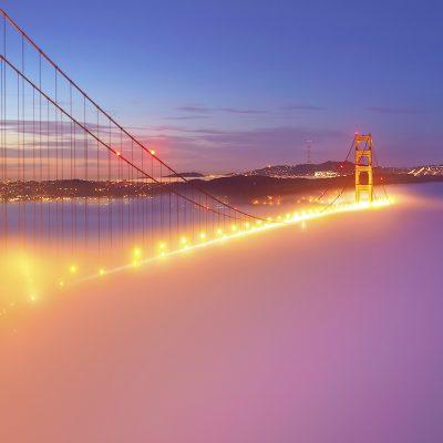 Jembatan San Francisco Bercahaya