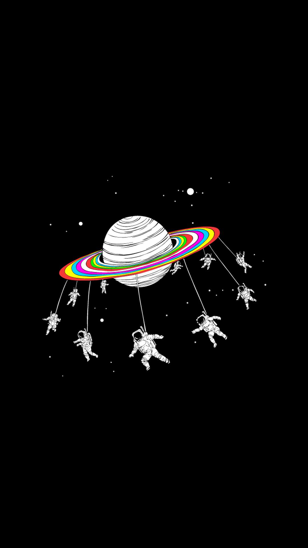 Kartun Astronot Luar Angkasa