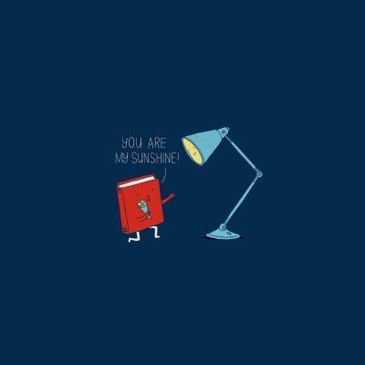 Kartun Buku & Lampu