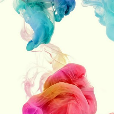 Tinta Penuh Warna Abstrak