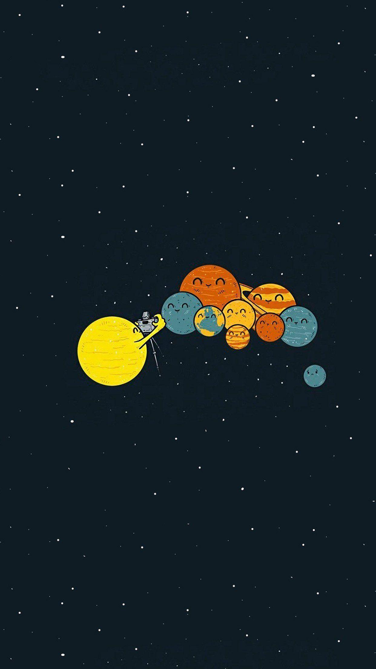 Lucu Planet Sedang Foto Bareng