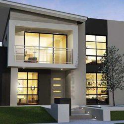 Arsitektur Rumah Mewah 2 Lantai Minimalis Modern