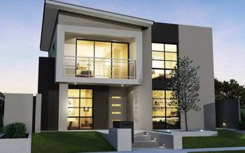 arsitektur rumah mewah dua lantai minimalis