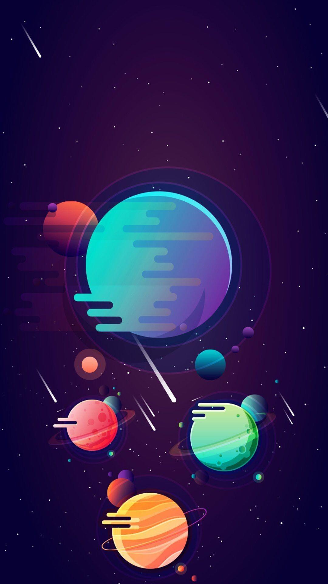 Kartun Planet di Luar Angkasa