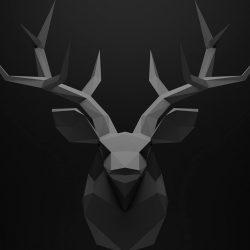 Kepala Rusa Seni Polygon 3D