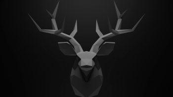 kepala rusa tanduk wallpaper hd 3D
