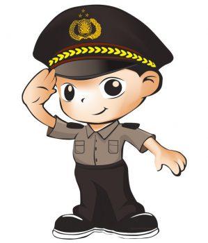 polisi kartun hormat