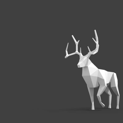 rusa wallpaper hd seni polygonal