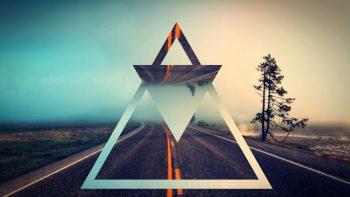 segitiga bentuk background wallpaper 4k