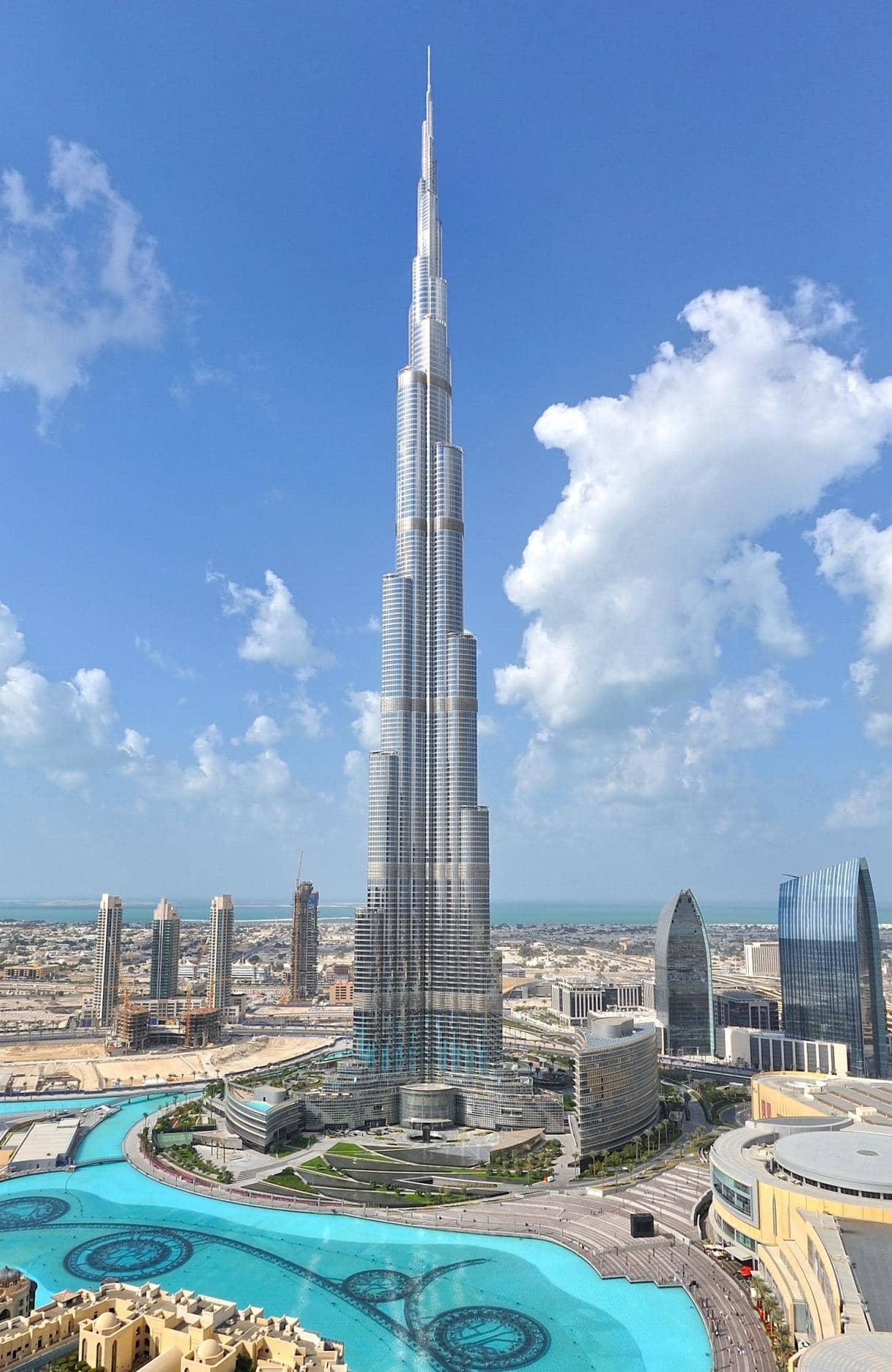 Gedung Tertinggi Di Dunia Dubai Burj Khalifa