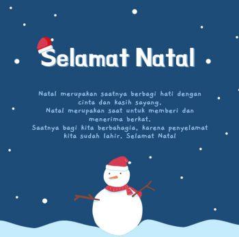Ucapan Selamat Natal boneka salju