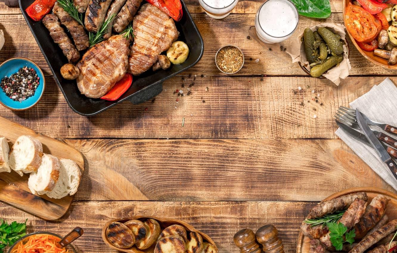 Background Makanan Steak Daging