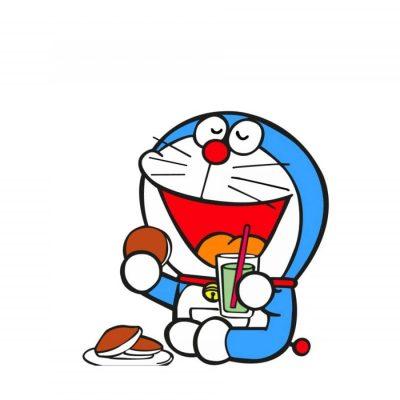 doraemon lucu makan dorayaki
