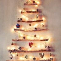 Pohon Natal Dinding Kreatif