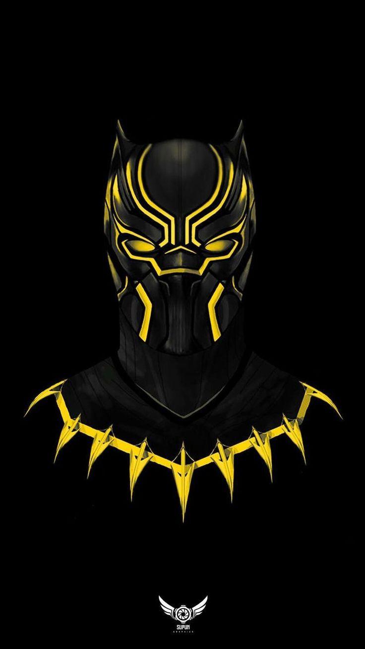 Black Panther Emas Background Gelap