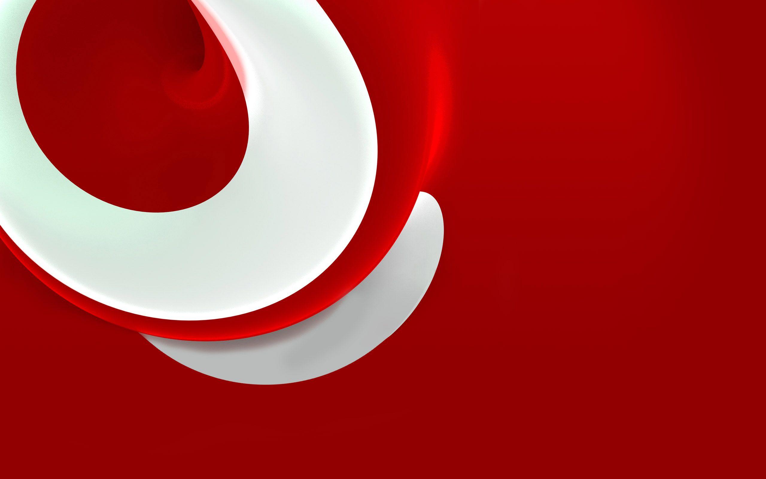 Wallpaper Background Merah Putih Abstrak Bulat