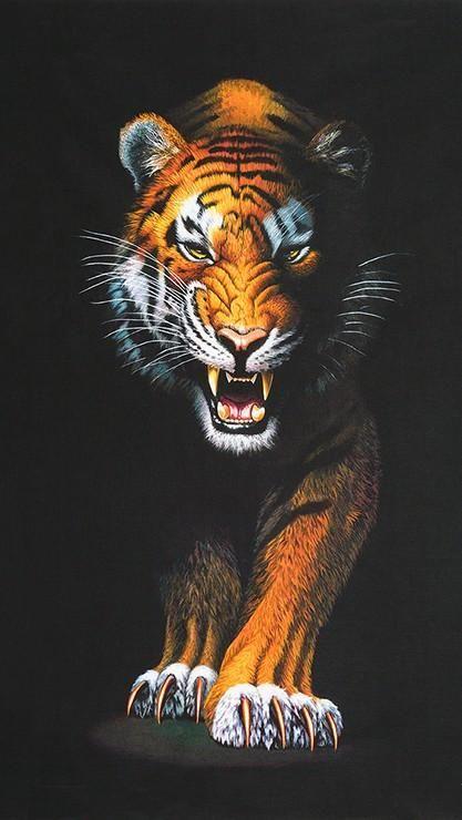 Wallpaper Harimau Marah HD