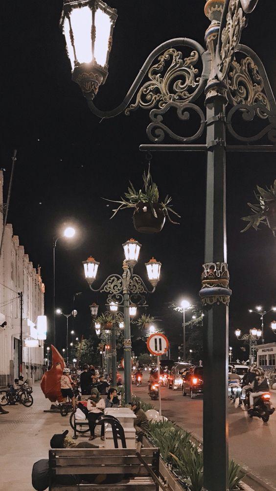 Background Jogja HD Jalanan Malam Hari