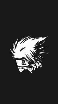 gambar keren anime naruto hitam putih