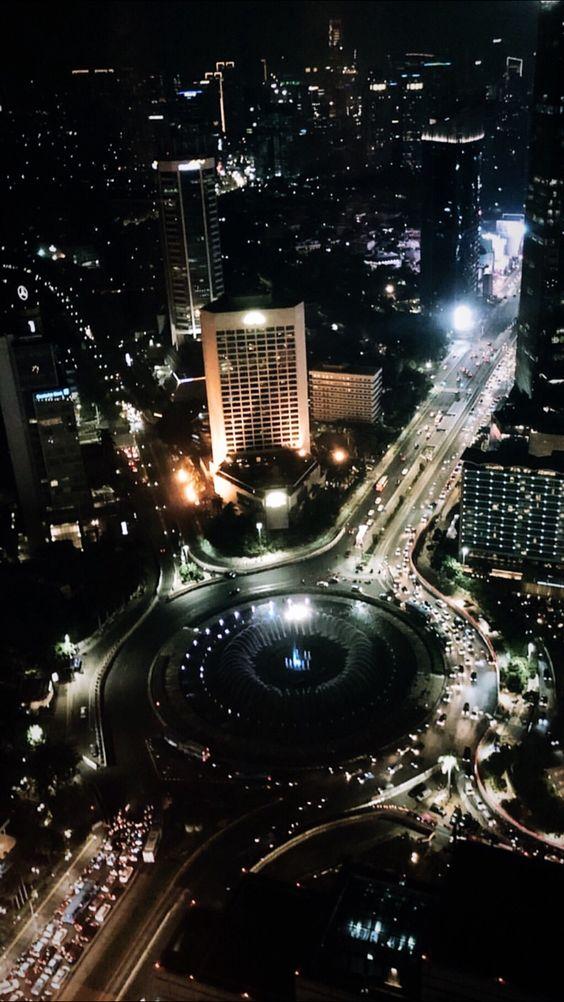Wallpaper Kota Jakarta Malam Hari