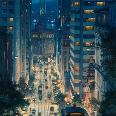 wallpaper kota malam hari